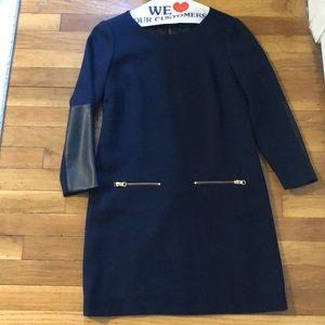 Jcrew navy shift dress